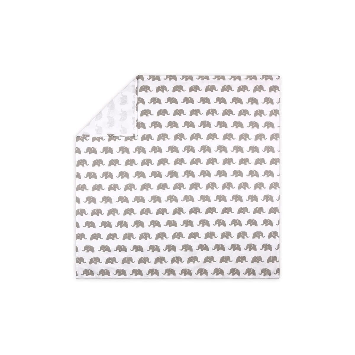 Little Haven Little Haven Grey Elephant 3Pk Brushed Cotton Wraps