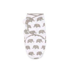 Little Haven Little Haven Swaddle Wrap Grey Elephant- Size 0-3