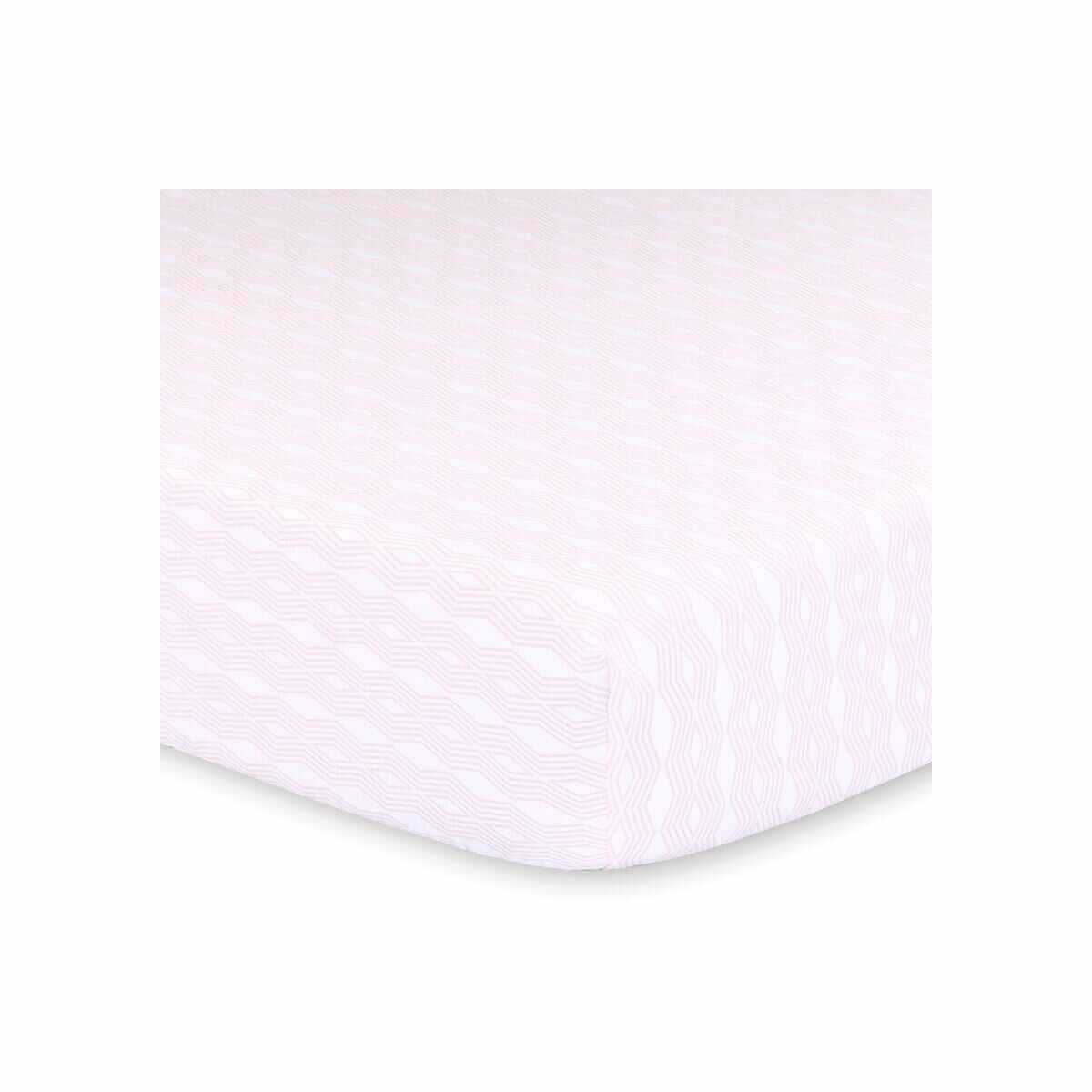 Little Haven Little Haven Cot Fitted Sheet-Blush Geo