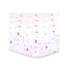 Little Haven Little Haven Llama Fitted Cot Sheet