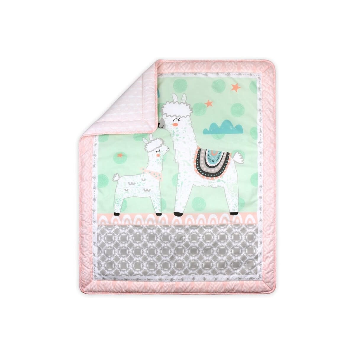 Little Haven Little Haven Llama Blush Cot Quilt