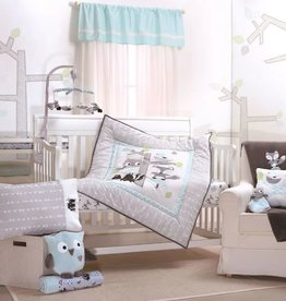 Little Haven Little haven Treehouse 4­Piece Cot Set(Quilt, FS, Pillow Case and Throw Pillow )