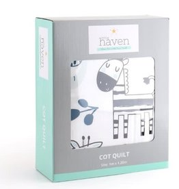Little Haven Little Haven Safari Blue Cot Quilt