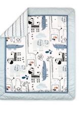 Little Haven Little Haven Safari Blue Cot Quilt