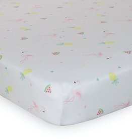 Lolli Living Lolli Living Fitted sheet - Jersey/Flamingo