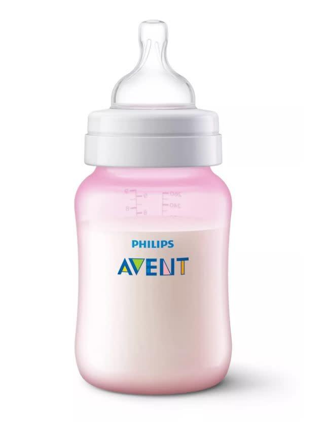 Avent Avent Anti Colic Feeding Bottle 260ml Twin Pk• Pink