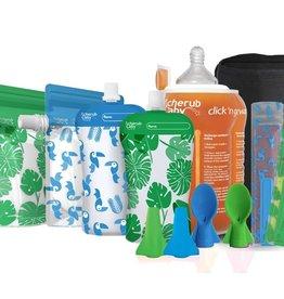 Cherub Baby Cherub Baby Solids Feeding Starter Kit (GREEN & BLUE)