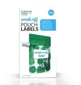 Cherub Baby Cherub Baby Food Pouch Dissolvable Labels 54pk