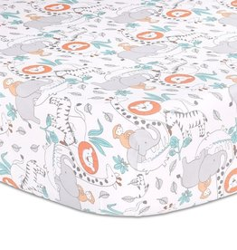 The Peanut Shell The Peanut Shell Safari Adventure Cot Fitted Sheet