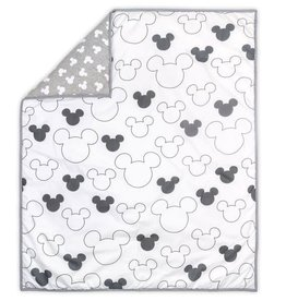 The Peanut Shell Disney Mod Mickey Grey Quilt