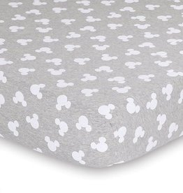 The Peanut Shell Disney Mod Mickey Grey Marle Fitted Sheet