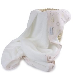 Bubba Blue Bubba Blue Pink Bloom Hooded Towel