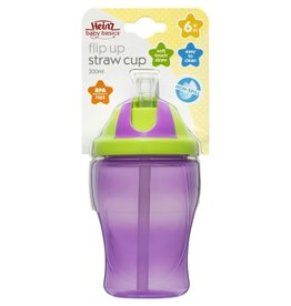 Heinz Baby Basics Heinz BB Flip Up Straw Cup 300ml
