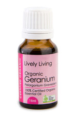 Lively Living Lively Living Geranium Certified Organic 15ml