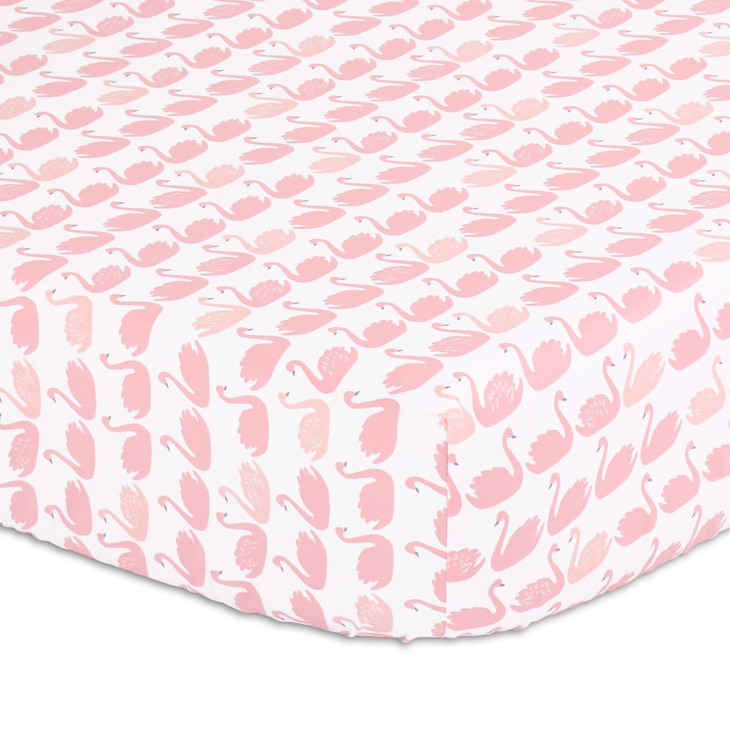 The Peanut Shell Peanut Shell Fitted Sheet Sweet Swan