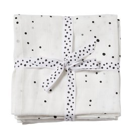 Done ByDeer Done By Deer Swaddle 2-Pack Dreamy Dots White