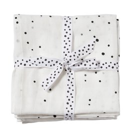 Done ByDeer Done By Deer Burp cloth 2-pack Dreamy Dots White
