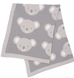 Living Textiles Living Textiles Pram Knitted Blanket - Koala