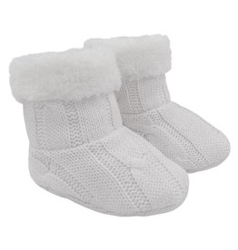 Living Textiles Living Textiles Cable Knit Sherpa Booties
