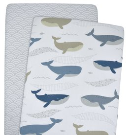 Lolli Living Lolli Living 2pk Bassinet Fitted Sheet - Oceania