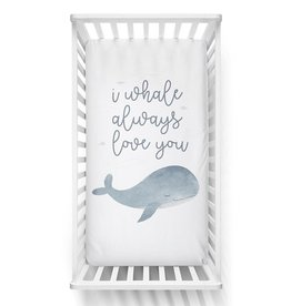 Lolli Living Lolli Living Fitted sheet - Whale Love You
