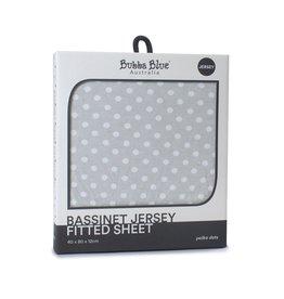 Bubba Blue Bubba Blue Polka Dots Bassinet Jersey Fitted Sheet -