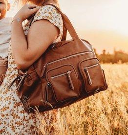 oioi OiOi Faux Leather Carry All Nappy Bag - Tan