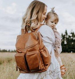 oioi OiOi Faux Leather Nappy Backpack - Tan
