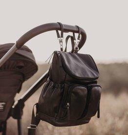 oioi OiOi Faux Leather Backpack Black