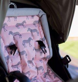 oioi OiOi Pink Zebra Reversible Pram Liner