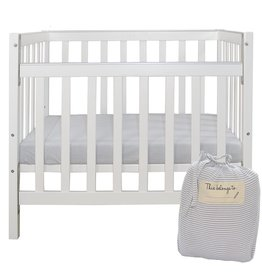 Living Textiles Living Textile Childcare Cot Sheet Set includs: flat + fitted sheet (flat sheet sewn on side)