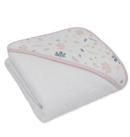 Living Textiles Living Textile Botanical Organic Muslin Hooded Towel with organic terry towelling