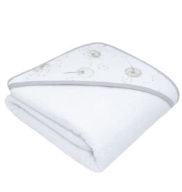 Living Textiles Living Textile Dandelion Organic Muslin Hooded Towel with Organic Terry Towelling