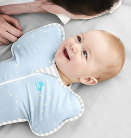 Love To Dream Love To Dream Cotton Swaddle UP Lite 0.2 Tog Blue