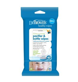 Dr Browns Dr Brown's Pacifier & Bottle Wipes, 40-Pack  (Fragrance and Alcohol Free, made in USA)