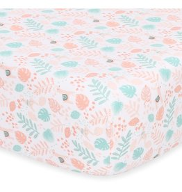Little Haven Little Haven Botanical Leaf Cot Fitted Sheet