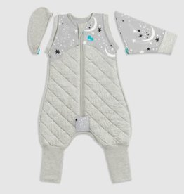 Love To Dream Love To Dream Swaddle UP™ Transition Suit Extra Warm 3.5T Grey - Moon & Stars