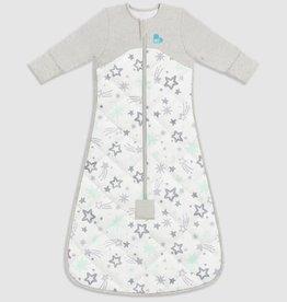 Love To Dream Love To Dream Sleep Bag with Organic Cotton and Australian Merino Wool 3.5 TOG - Mint Stars