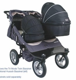 Valco Tri Mode Ex Twin Husssh Bassinet Black