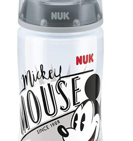 NUK Nuk First Choice+ Mickey Mouse Bottle, 300ml, Silicone Teat, Age 6-18m