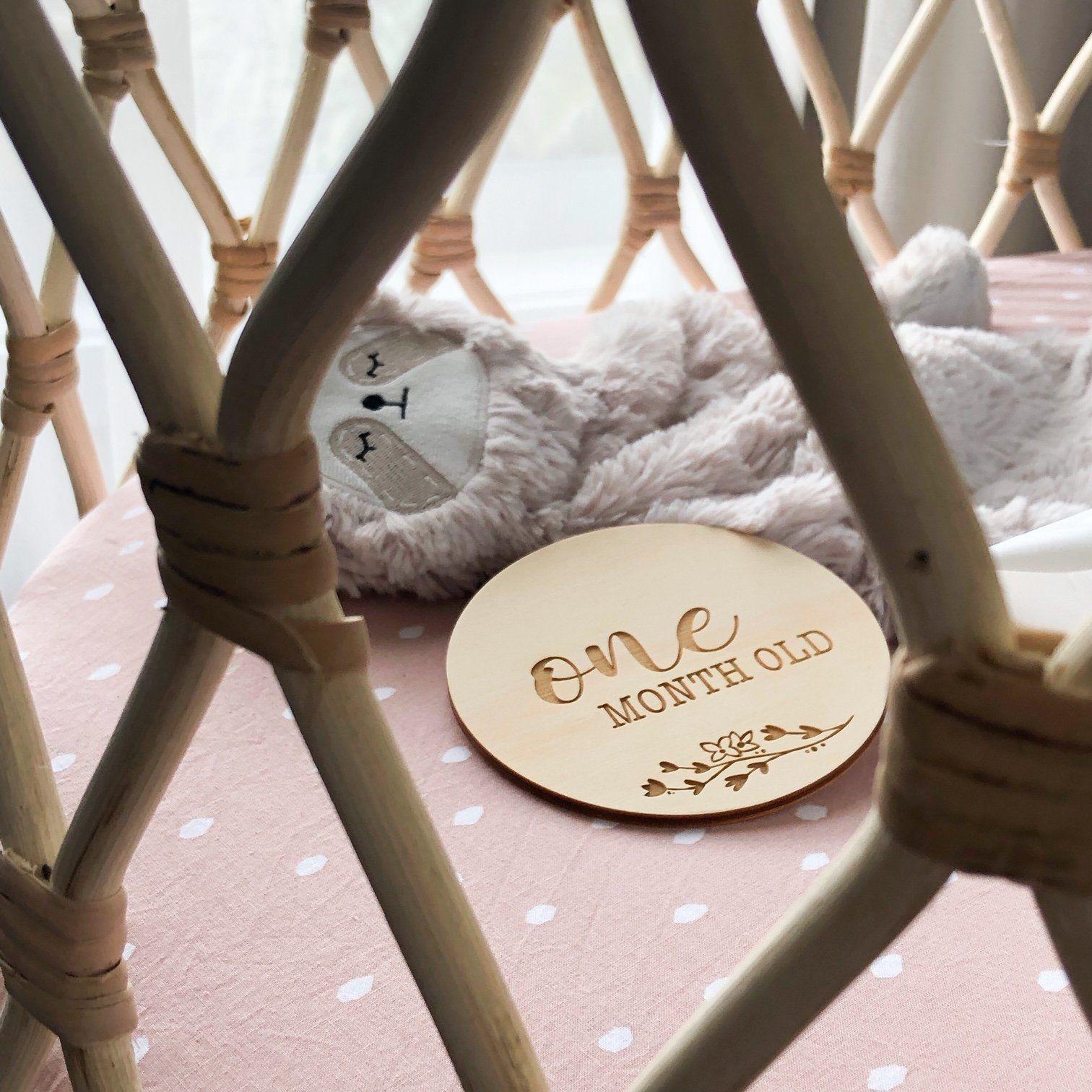OneChewThree OneChewThree Baby Milestone Plaques - Designer Series (various design)