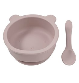 Becalm Baby Becalm Baby Silicone Bear Suction Bowl and Spoon Set