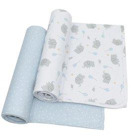 Living Textiles Living Textiles 2-pack Jersey Wrap (100 x 100cm) - Mason/Confetti