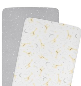 Living Textiles Living Textiles 2-pack Jersey Co-sleeper/Cradle Fitted Sheet - Noah/Stars
