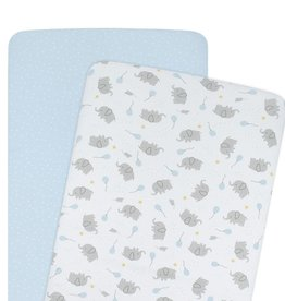 Living Textiles Living Textiles 2-pack Jersey Co-sleeper/Cradle Fitted Sheet - Mason/Confetti