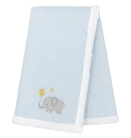 Living Textiles Living Textiles Quilted Jersey Sherpa Blanket 75 x 100cm - Mason Elephant