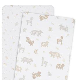 Lolli Living Lolli Living 2pk Cradle/Bedside Sleeper Fitted Sheets - Bosco Bear