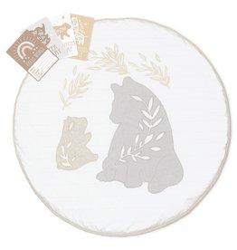 Lolli Living Lolli Living Round play mat with Milestone card - Bosco Bear
