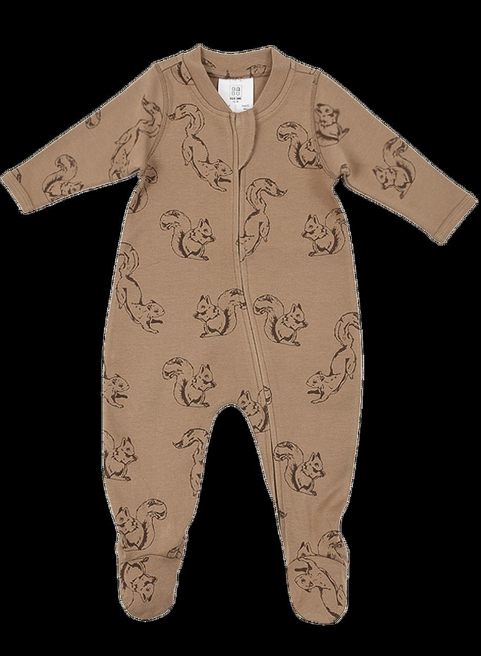 Babu Babu Interlock Organic Cotton All-in-One - Squirrel