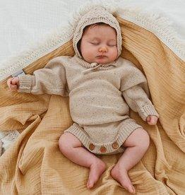 Ziggy Lou Ziggy Lou Heirloom Romper Caramel Fleck - Newborn (0-3m)